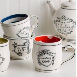 Something Good Molly Hatch red ceramic mug NWT